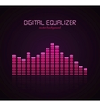 digital equalizer vector image vector image