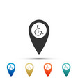 disabled handicap in map pointer invalid symbol vector image vector image