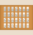dominoes tiles or white domino mockups vector image vector image