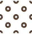 Doughnut flat pattern vector image vector image