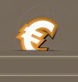euro money icon design vector image vector image