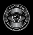 eye circle logo vector image vector image