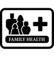 family health icon vector image vector image