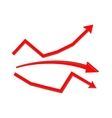Financial statistic red arrows vector image