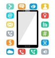 Flat of modern Mobile phone vector image