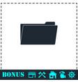 folder icon flat vector image vector image