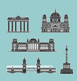 german historical monuments architecture vector image