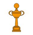 golf trophy cup vector image vector image