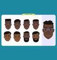 group working people business black american vector image