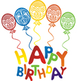 happy birthday balloons background vector image