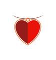 heart love jewelry logo vector image vector image