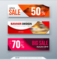 horizontal web banner templtes with circles and vector image