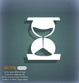 hourglass icon On the blue-green abstract vector image vector image