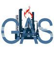 Icon gas industry 4 vector image vector image