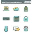 Icons line set premium quality of web development vector image