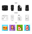 isolated object of can and food icon set of can vector image vector image