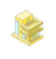 isometric house on white background modern house vector image