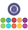 katana icons set color vector image