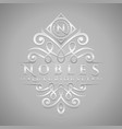 letter n logo - classic luxurious silver vector image vector image