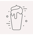 Line Logo Food or Drink vector image vector image