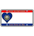 new hampshire license plate vector image vector image