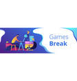office fun header or footer banner vector image vector image