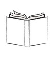 opened book in black blurred contour vector image vector image