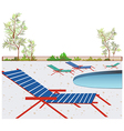 Poolside background vector image vector image