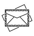 post envelope icon outline style vector image