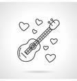 Romantic serenades flat line icon vector image