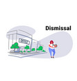 sadness overweight worker carrying box with things vector image vector image
