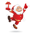 Santa Claus with Christmas Gift vector image vector image