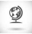 School globe vector image