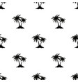 seamless pattern with palm trees black isolated vector image