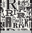 seamless vintage pattern letter R vector image vector image
