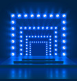 show show casino background with stage and vector image vector image