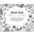 sketch vegetables organic vegetable foods poster vector image vector image