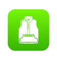 sleeveless jacket icon green vector image vector image