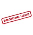 Smoking Here Rubber Stamp vector image vector image