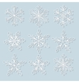 Snowflakes set Background for winter vector image vector image