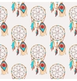spiritual and magic dreamcatcher seamless pattern vector image vector image