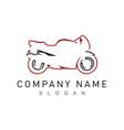 sport motorcycle logo vector image vector image