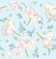 spring flower pattern vector image vector image