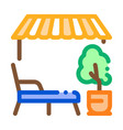 terrace on street icon outline vector image vector image