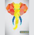 trendy polygonal elephant vector image vector image