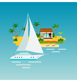 Tropical Yacht Vacation Composition vector image vector image