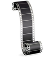 twisted film strip vector image