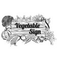 vegetable produce sign vector image vector image