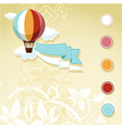 vintage design with flying balloon vector image vector image