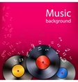 Vinyl music background vector image vector image